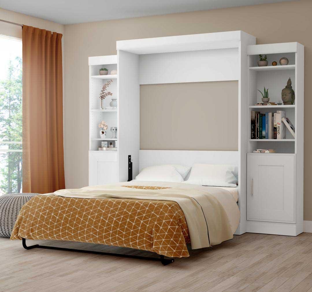 Bestar white murphy bed