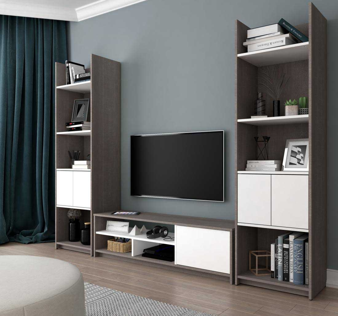 Bestar TV Stand Small Space Collection