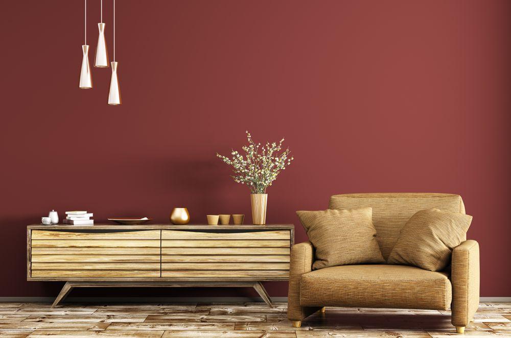 Terra cotta living room