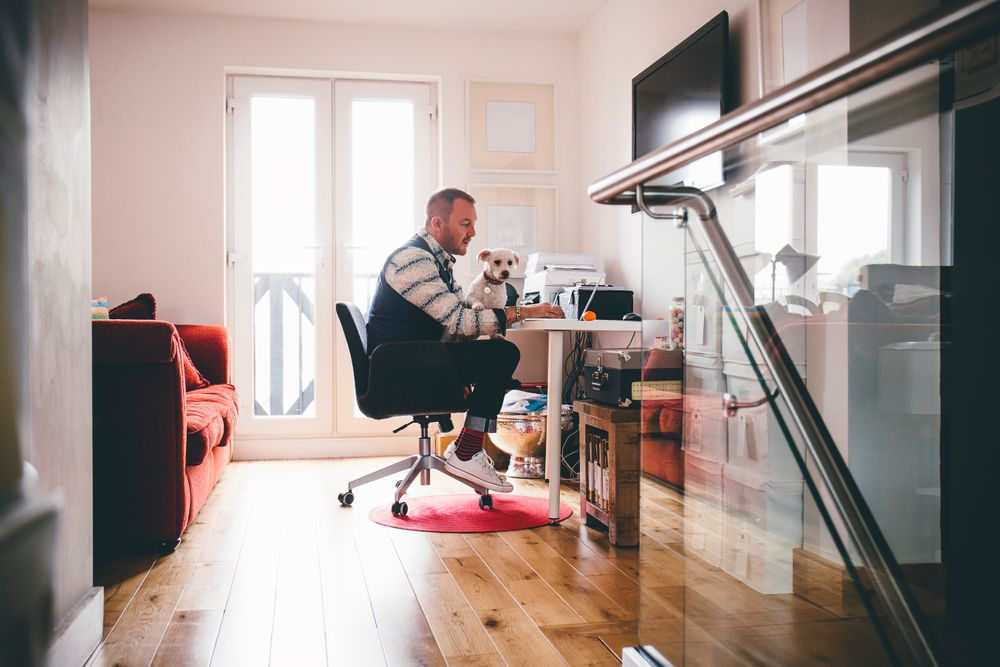 Man in a home office