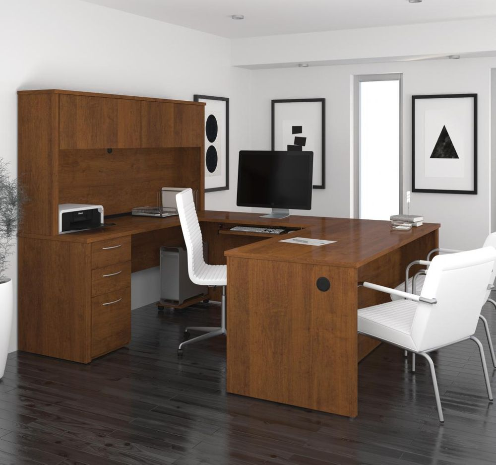 Tuscany Brown U-Shaped Desk