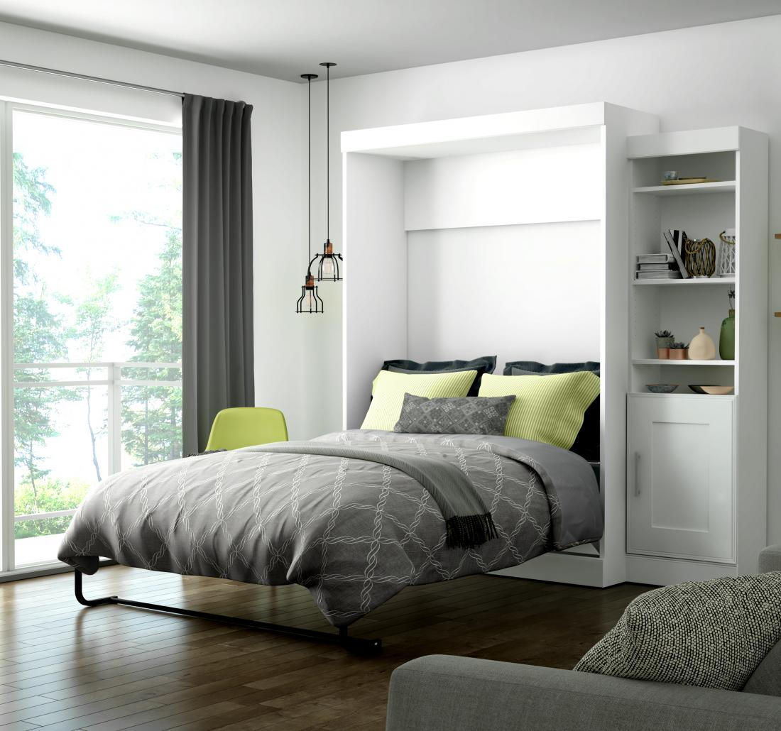 Bestar Full Wall Bed with storage unit