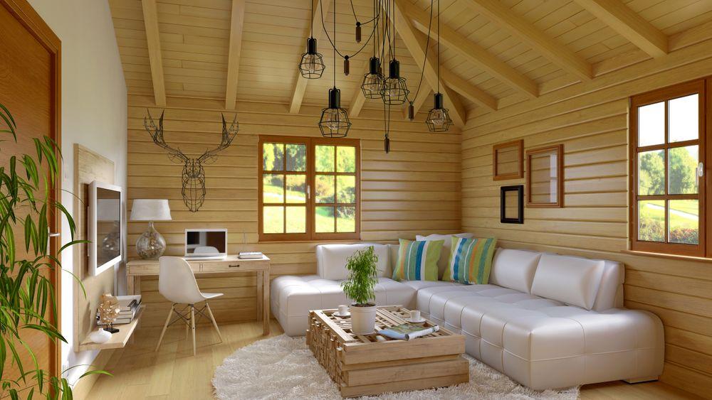 Rustic cottage interior