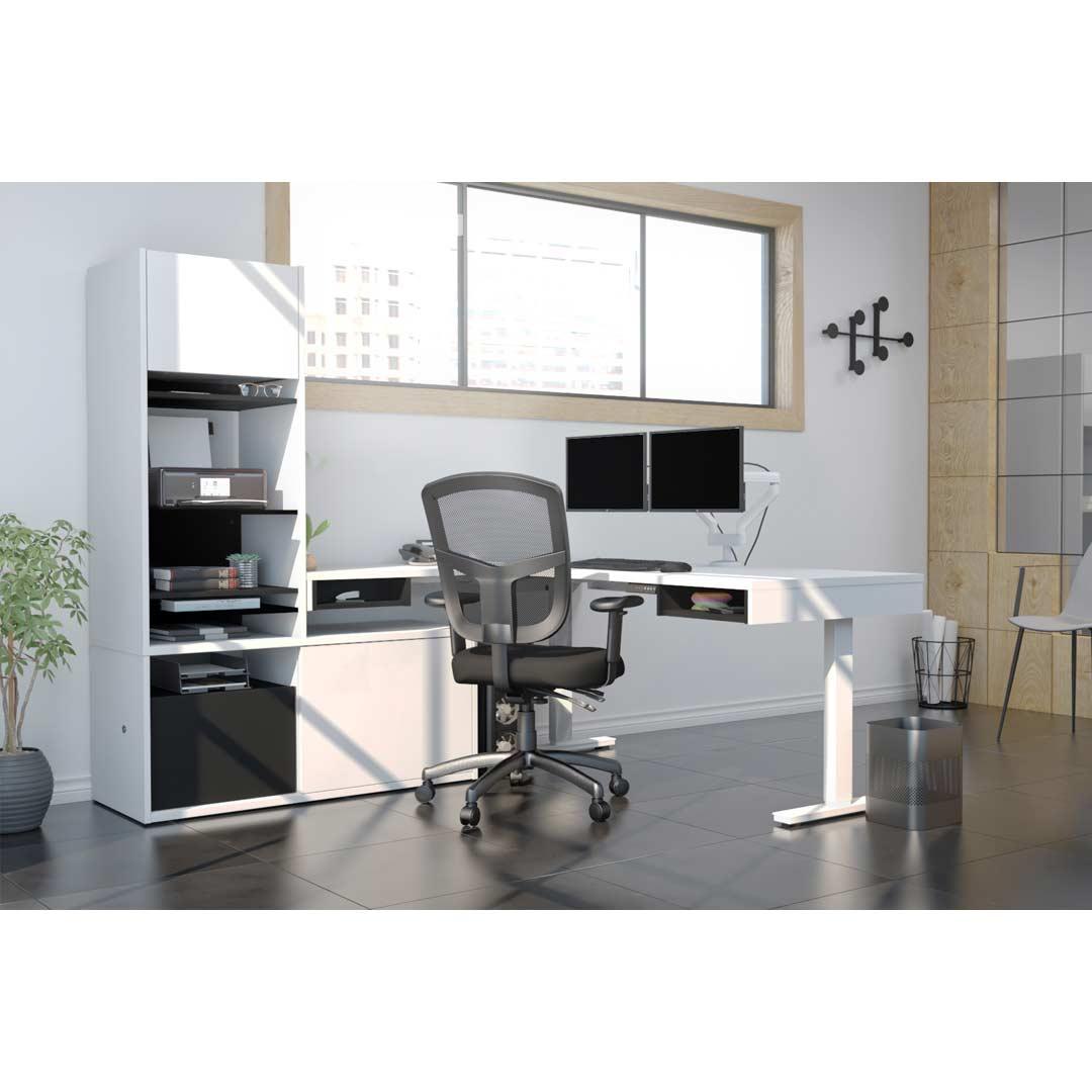 Home Office White L-desk