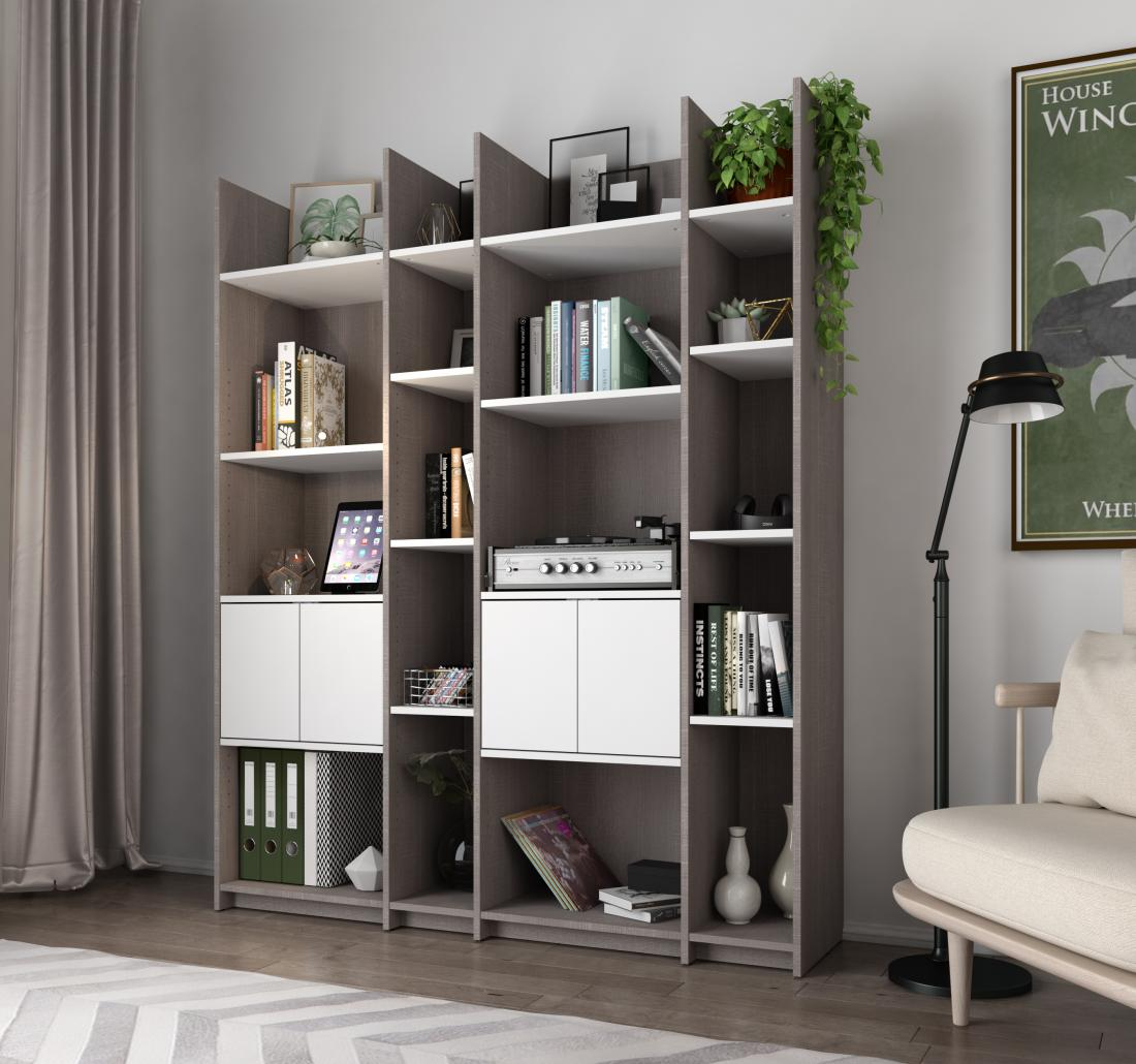Big bookcase in living room