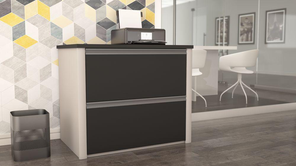 Modern file cabinet in an office