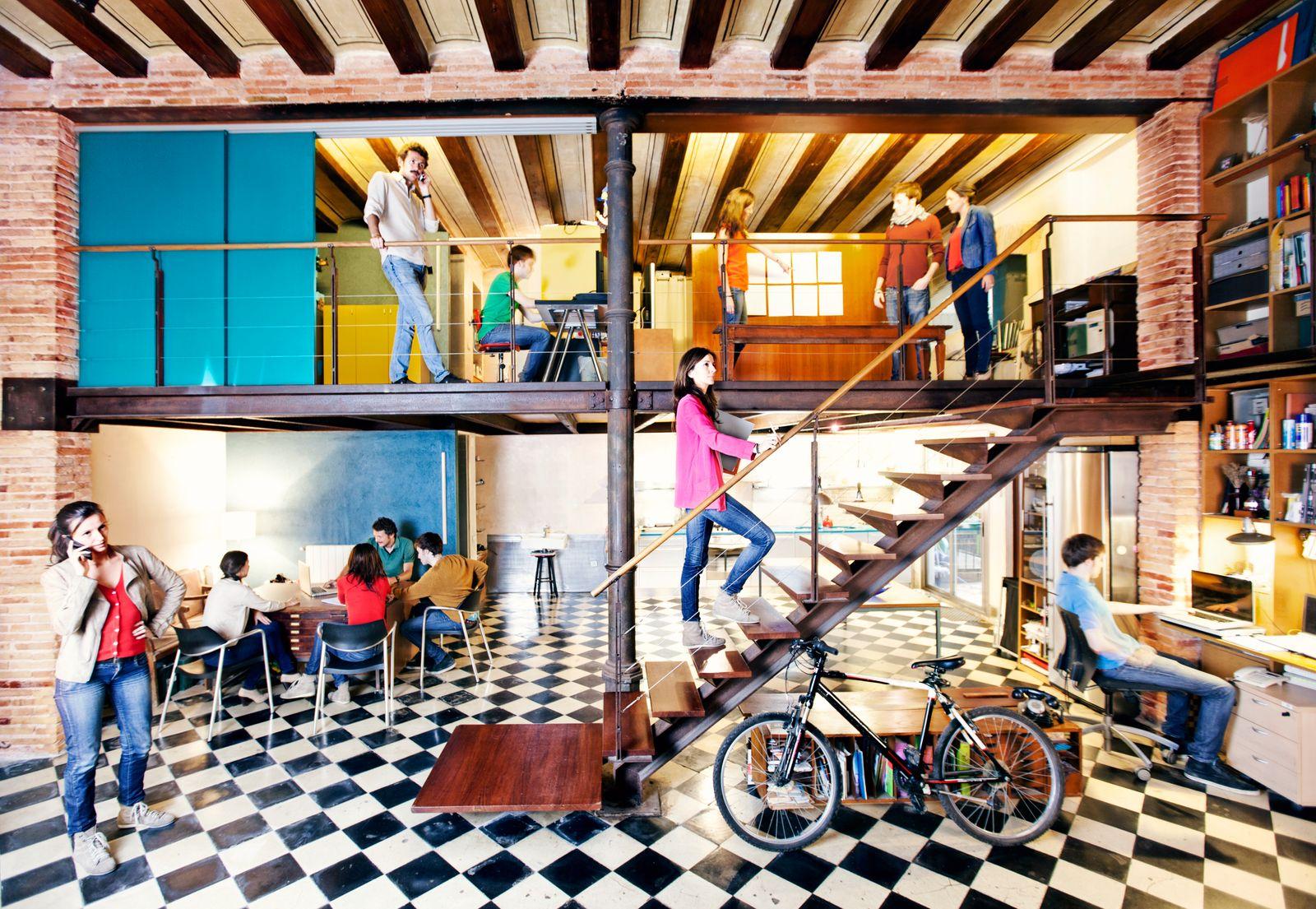 Open office areas