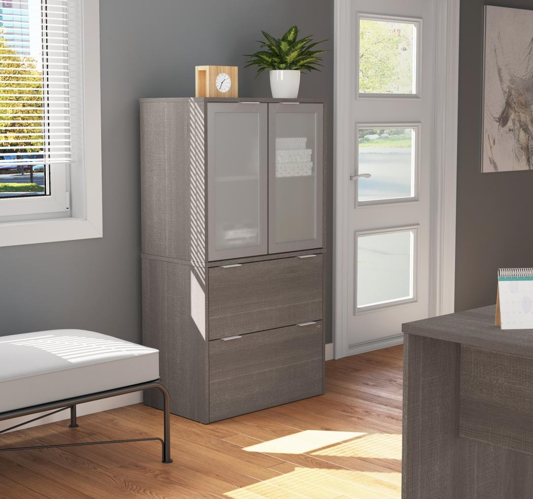 Home office shelving and storage units