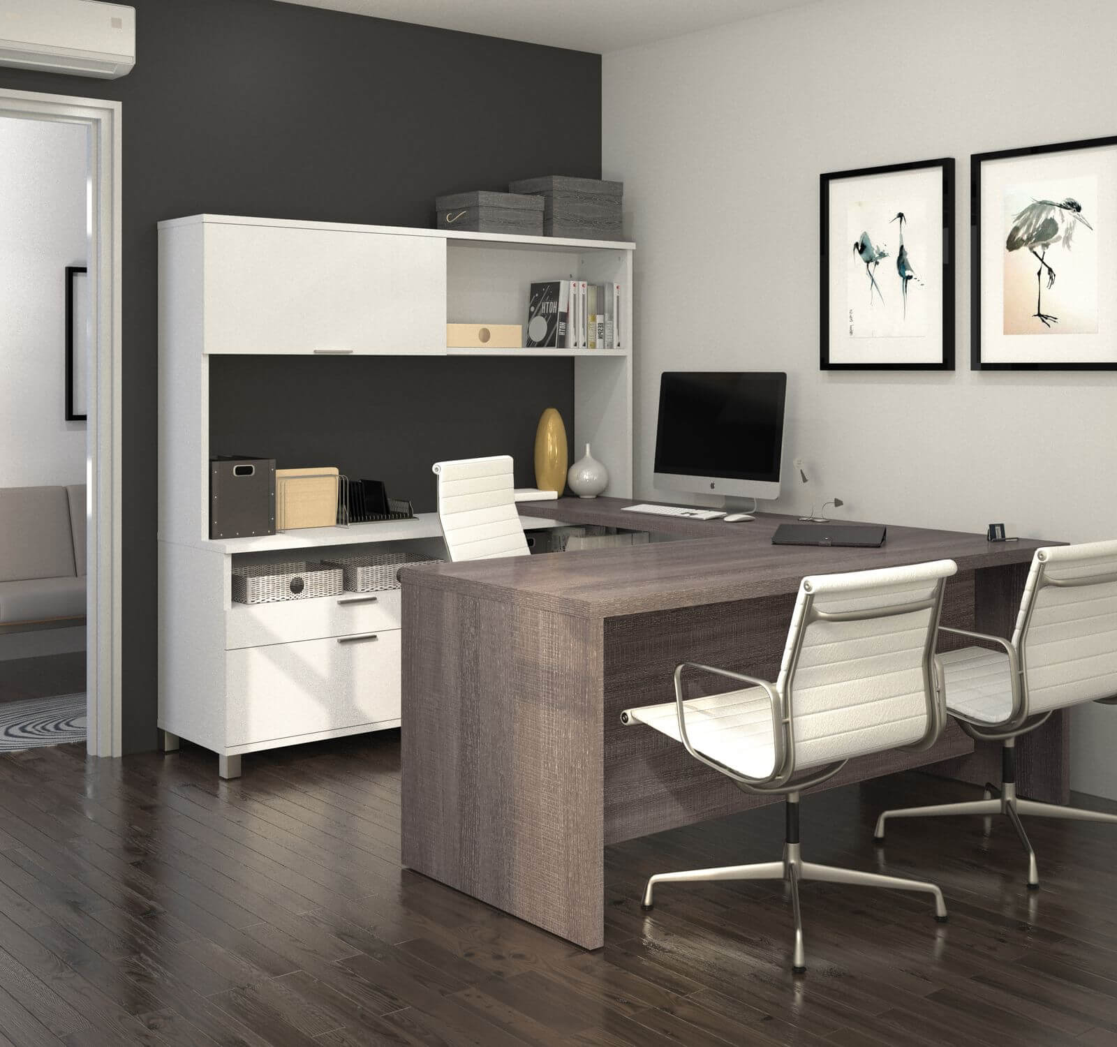 Bestar U or L-shaped desk