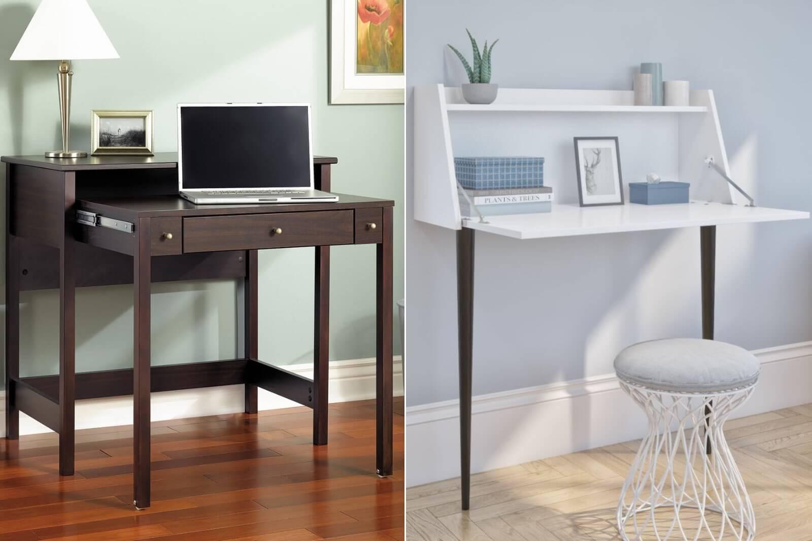 Bestar secretary desk with Bush Furniture pull out desk