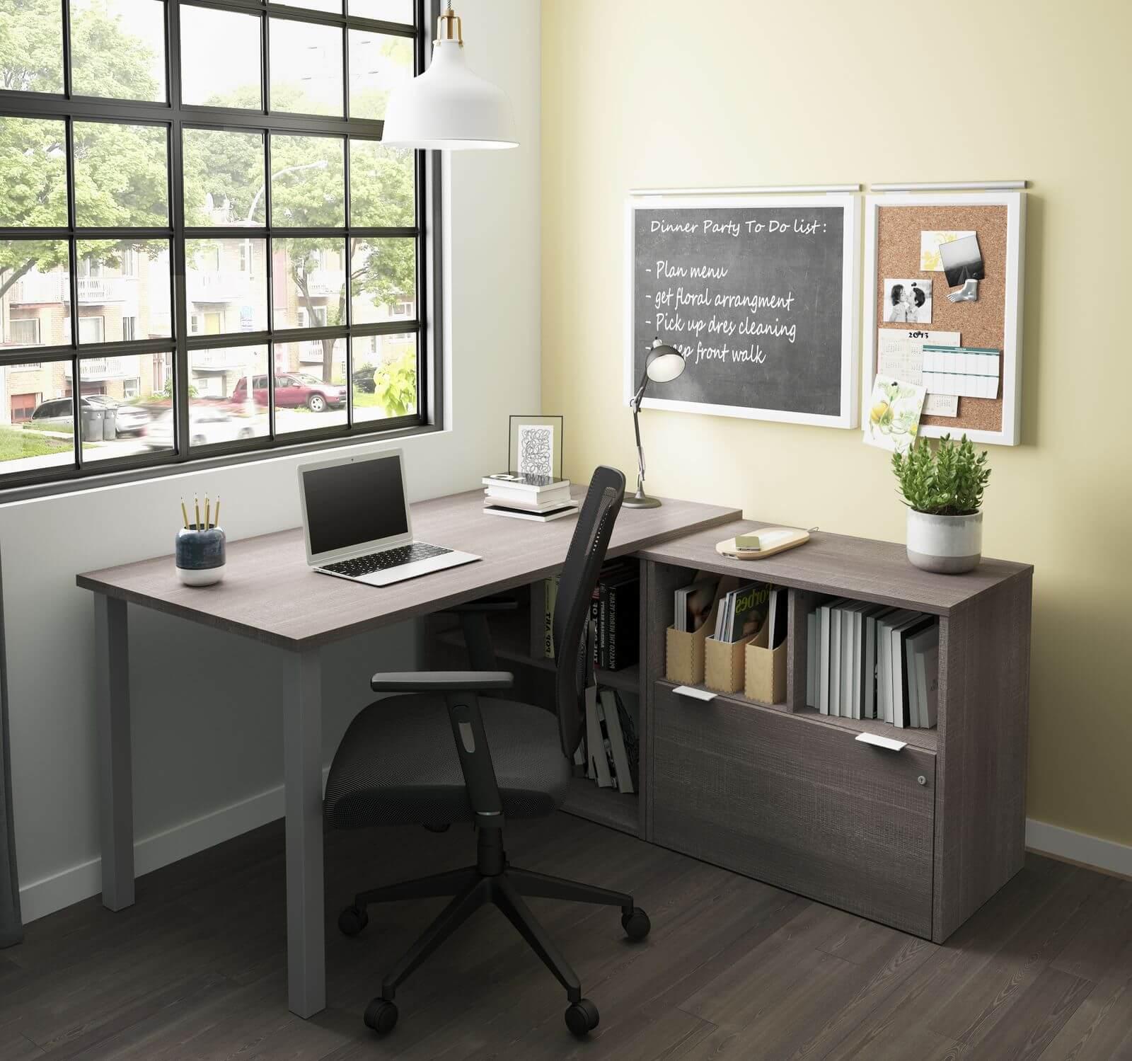 Bestar l-shaped desk