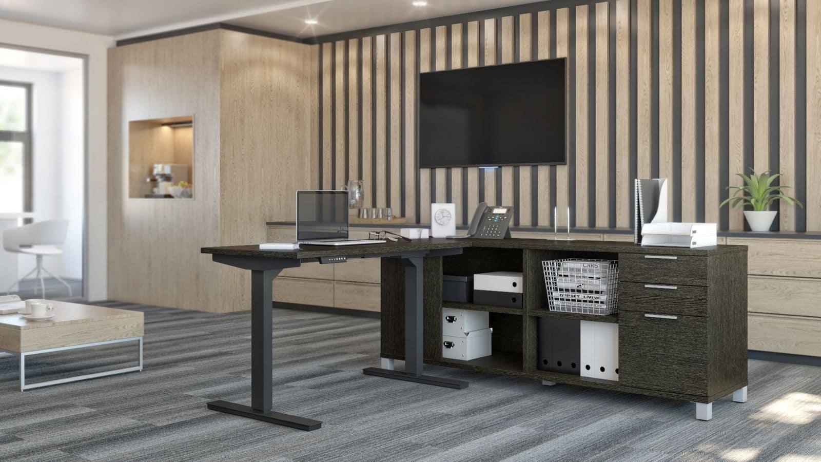 Bestar L-shaped standing desk