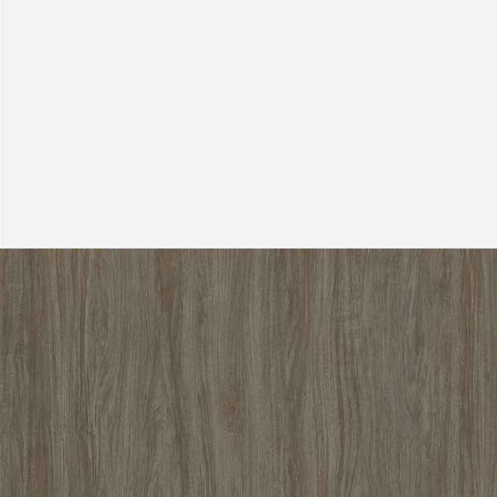 Walnut Grey & White