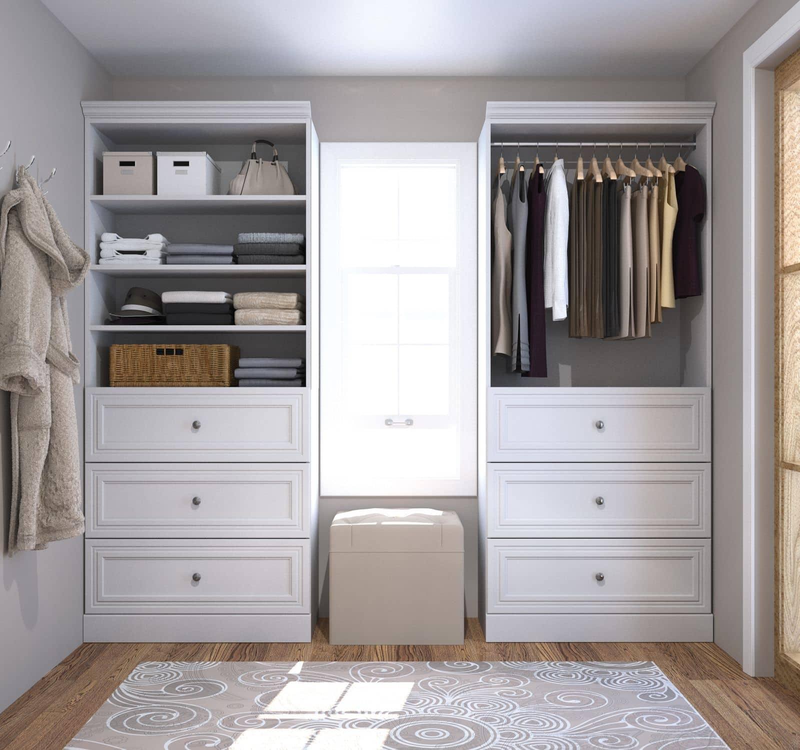 Bestar closet organizers
