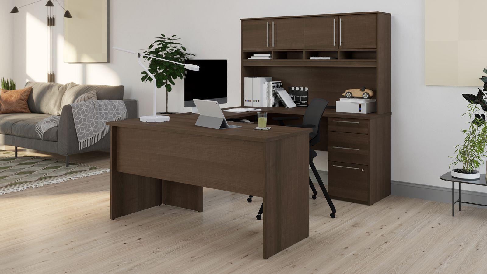 Bestar U shaped computer desk