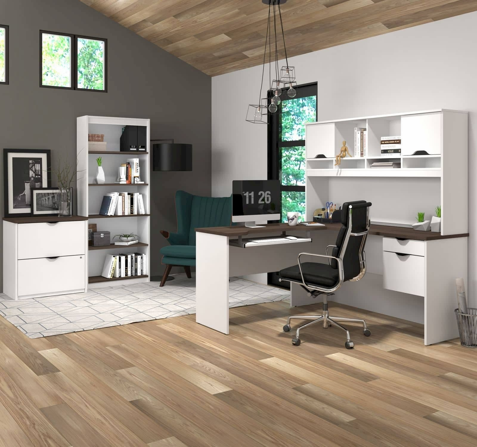 professional home office with Bestar furniture