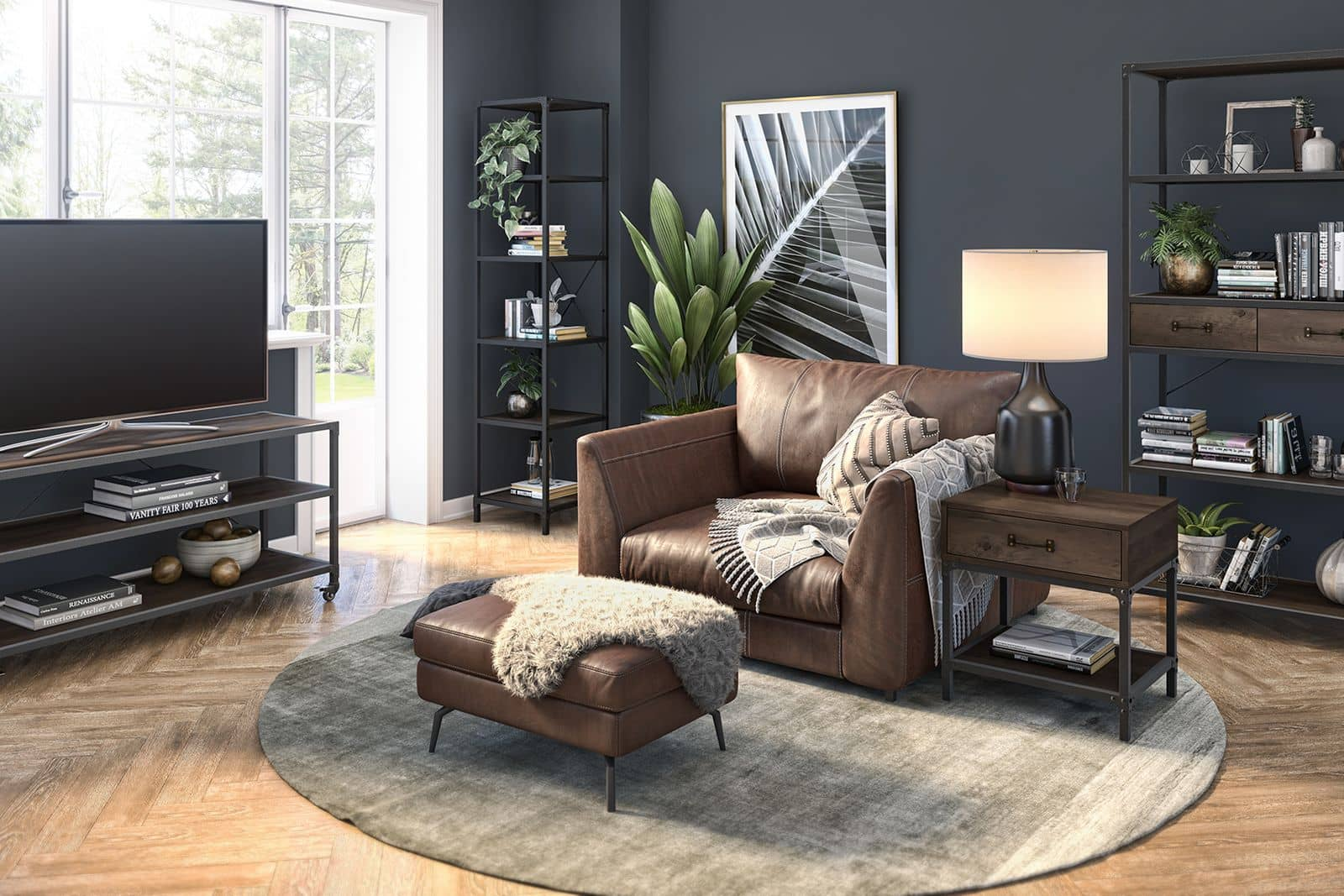 Cozy living room with Bestar furniture