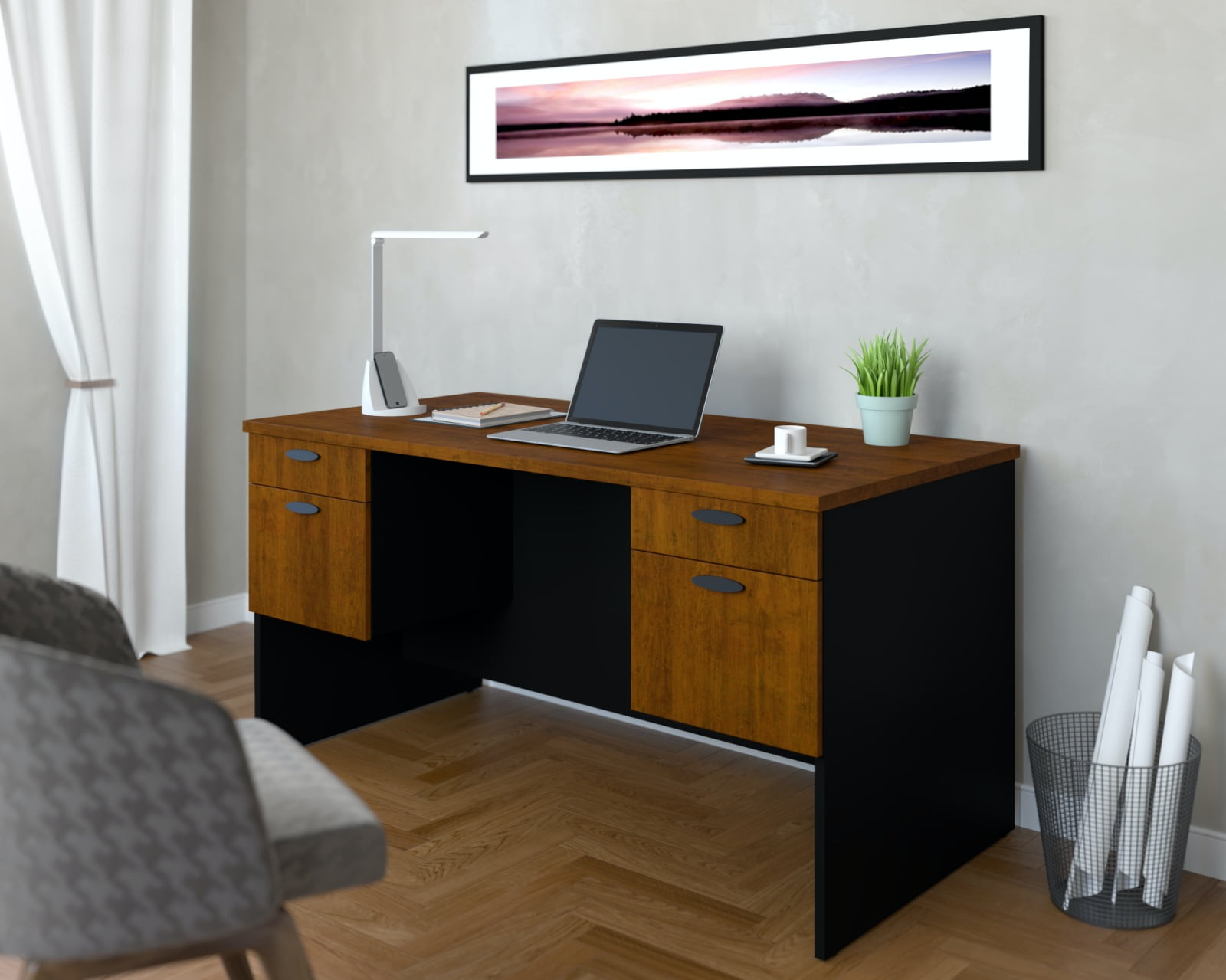 Home office with a Bestar desk