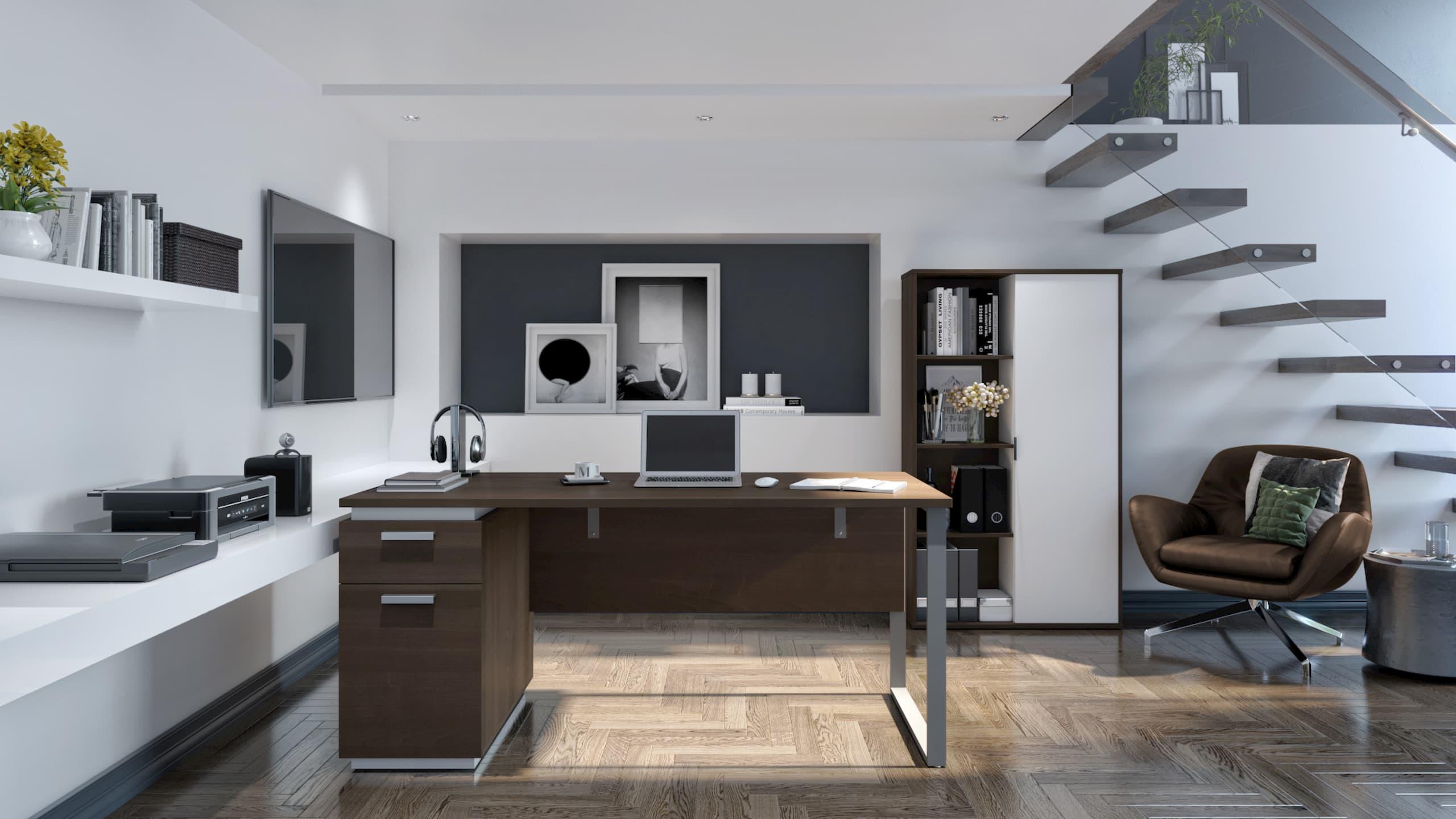 Modern workspace with Bestar office furniture