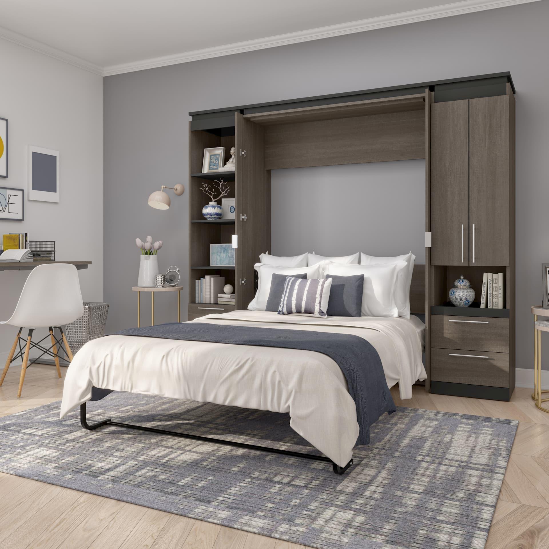 Guest bedroom with a Bestar Murphy Bed