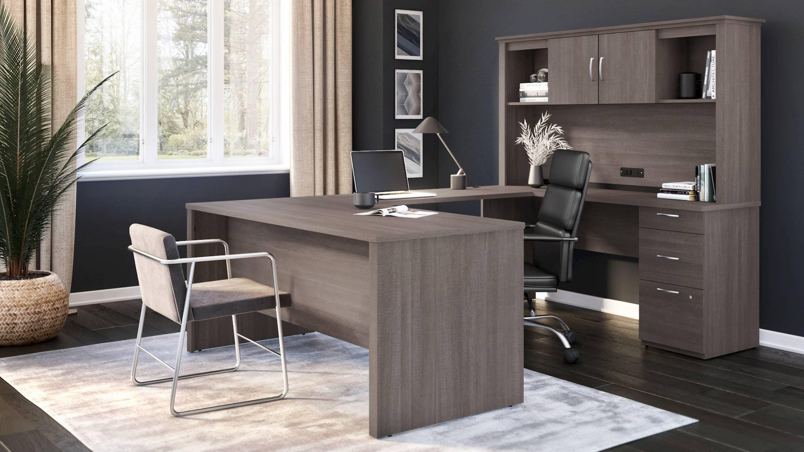 Bestar U-Shaped Desk with Storage