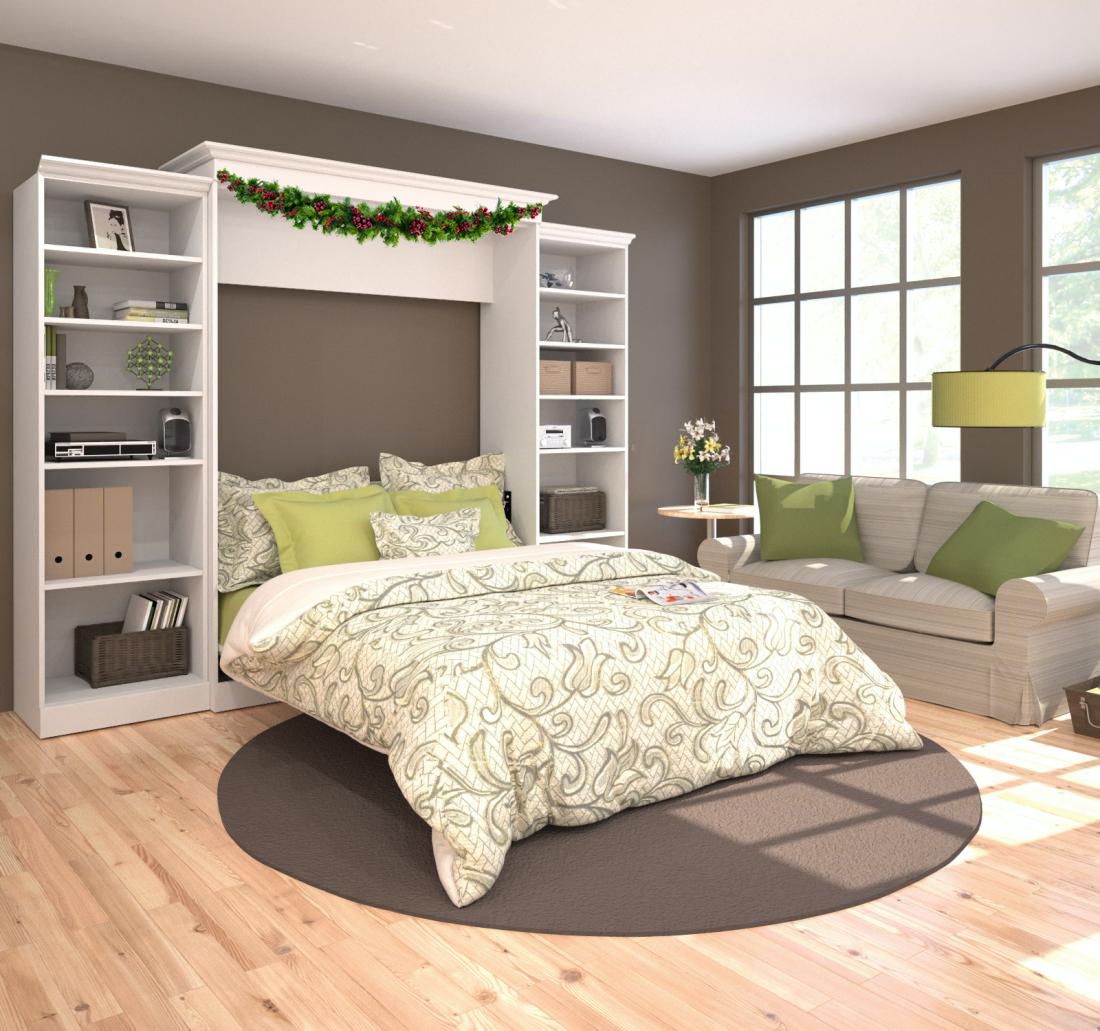 Guest room with a Bestar Murphy Bed
