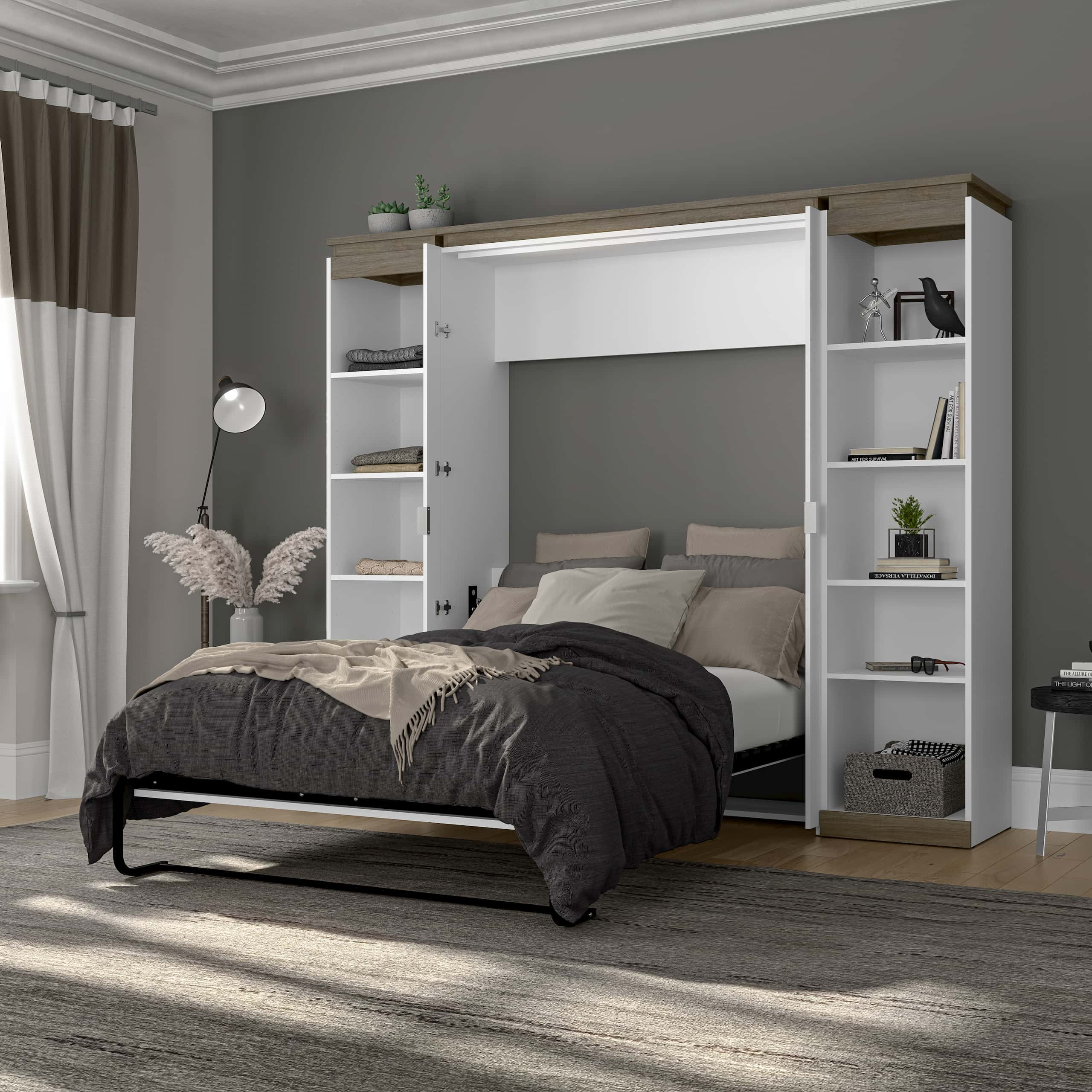 Looking for Clever Home Furniture Solutions?  Try a Murphy Bed with Bookcase!