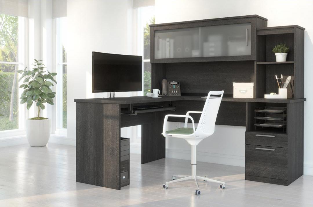 Standard desk height L-Shaped desk