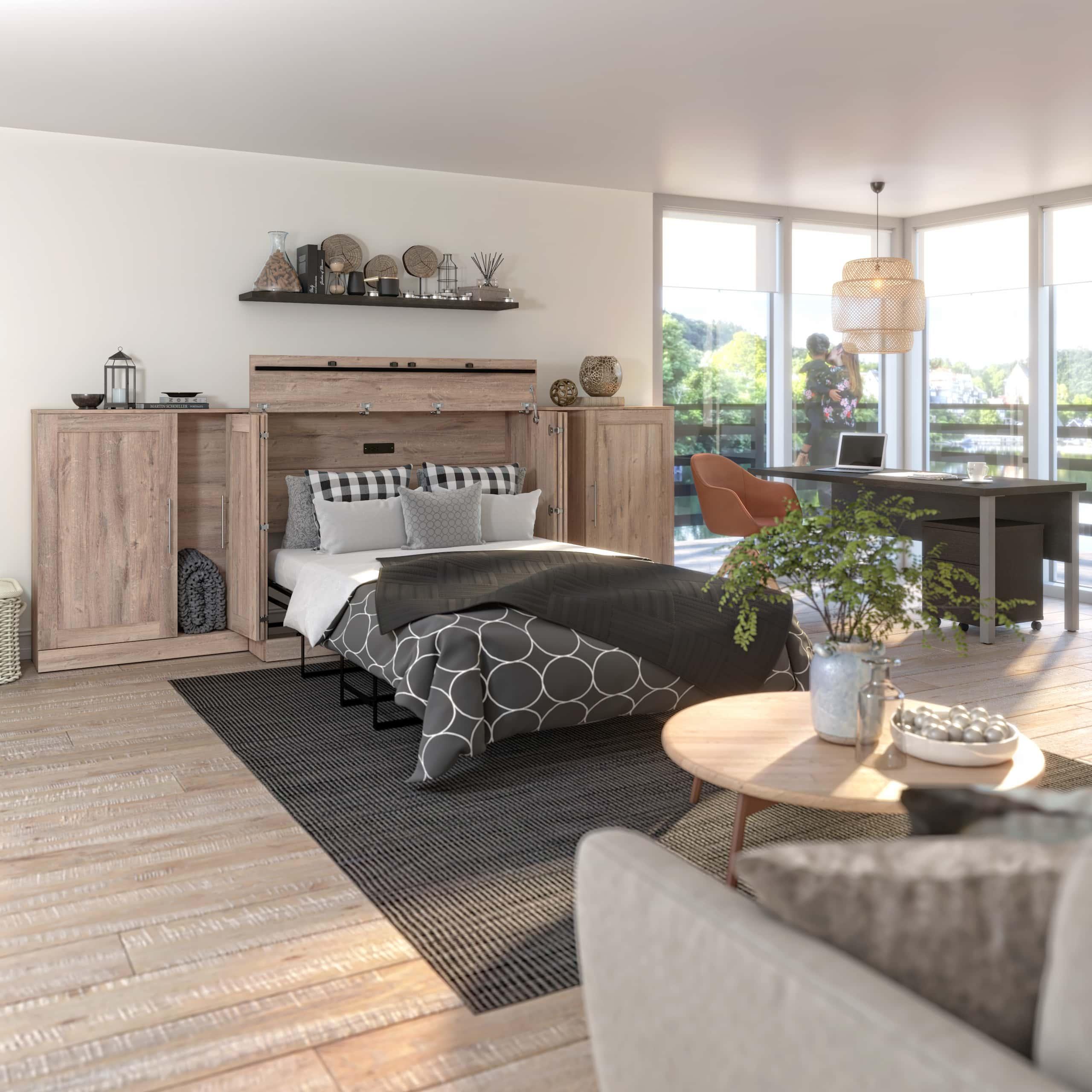 cabinet bed kitchen living room