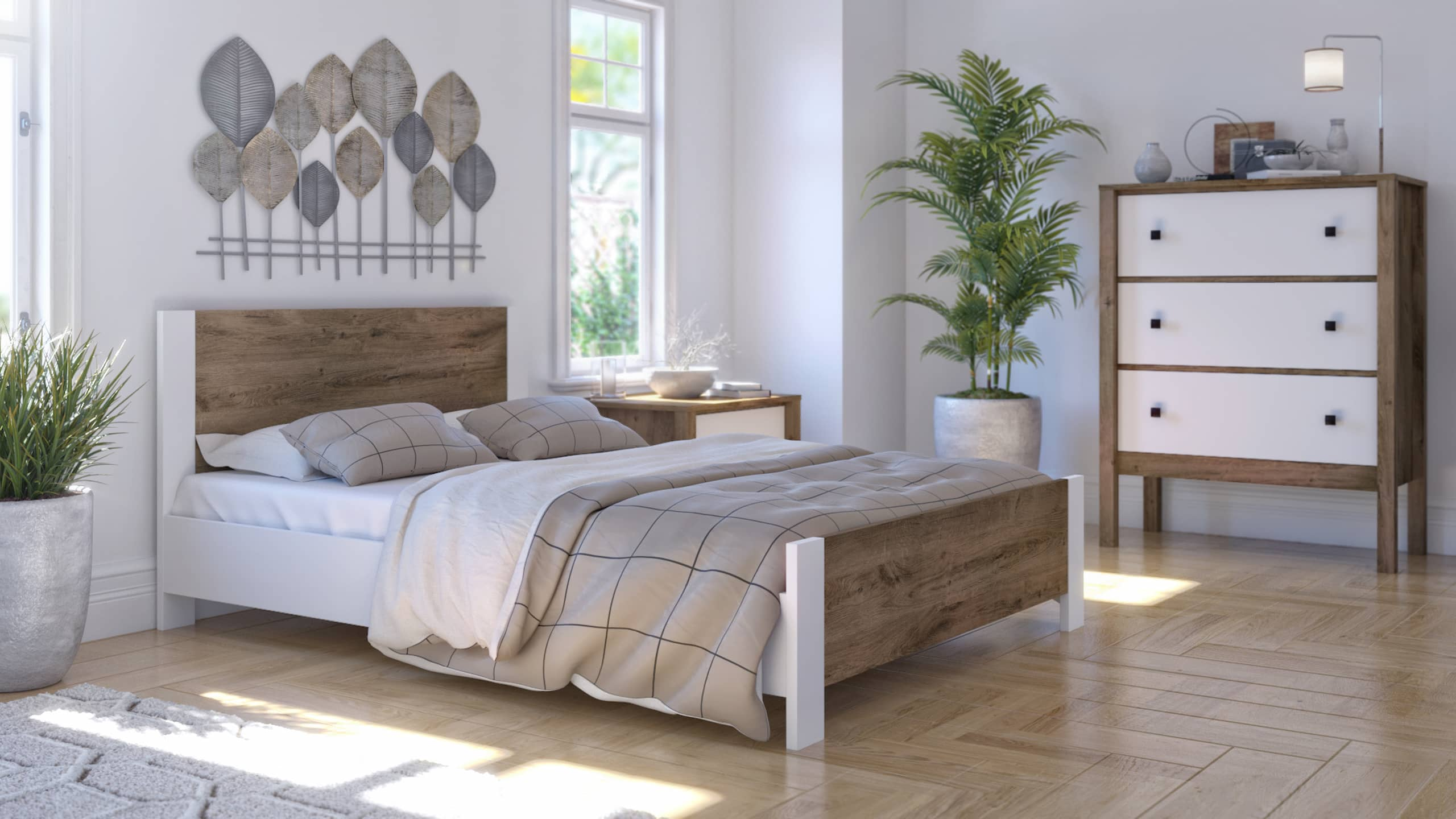 bedroom with neutral colors