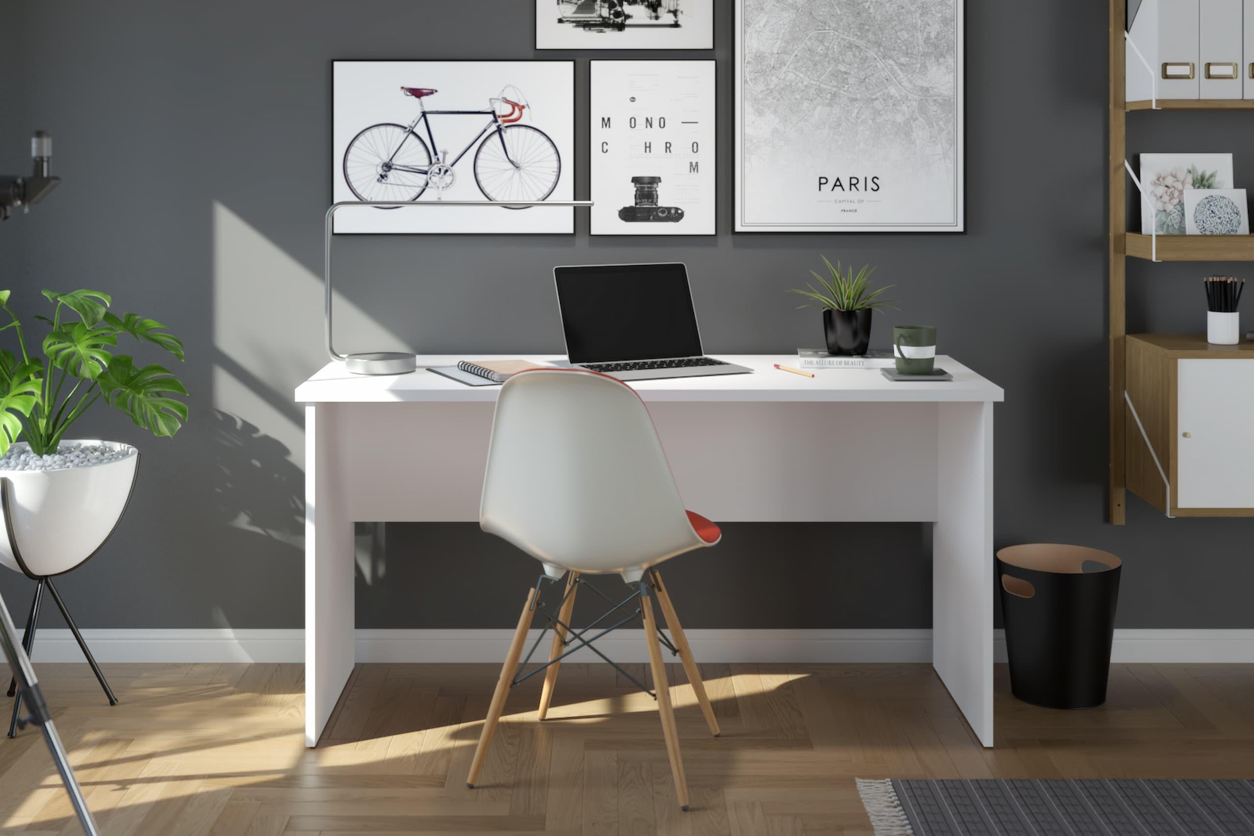 white small desk for student