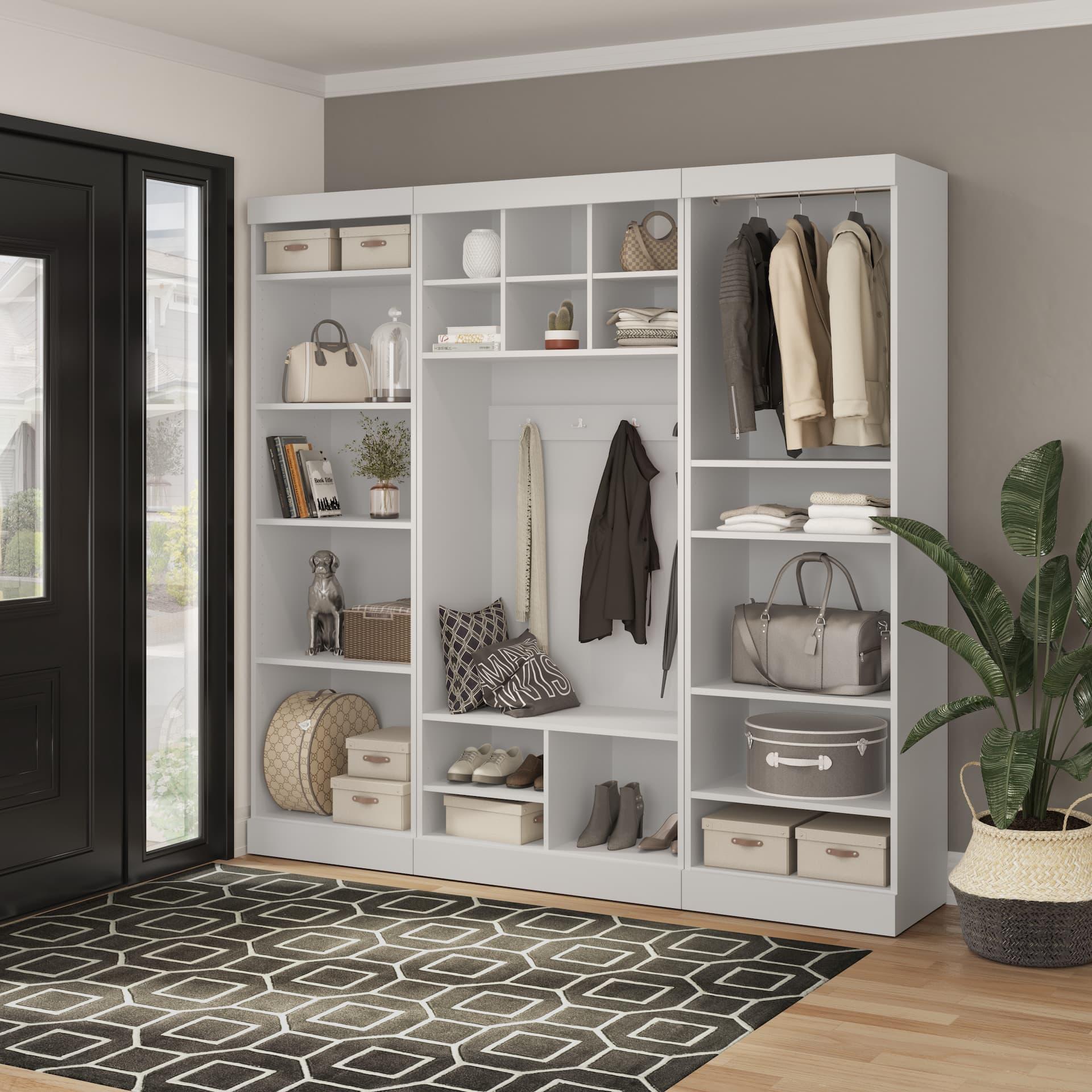 mudroom and closet organizer