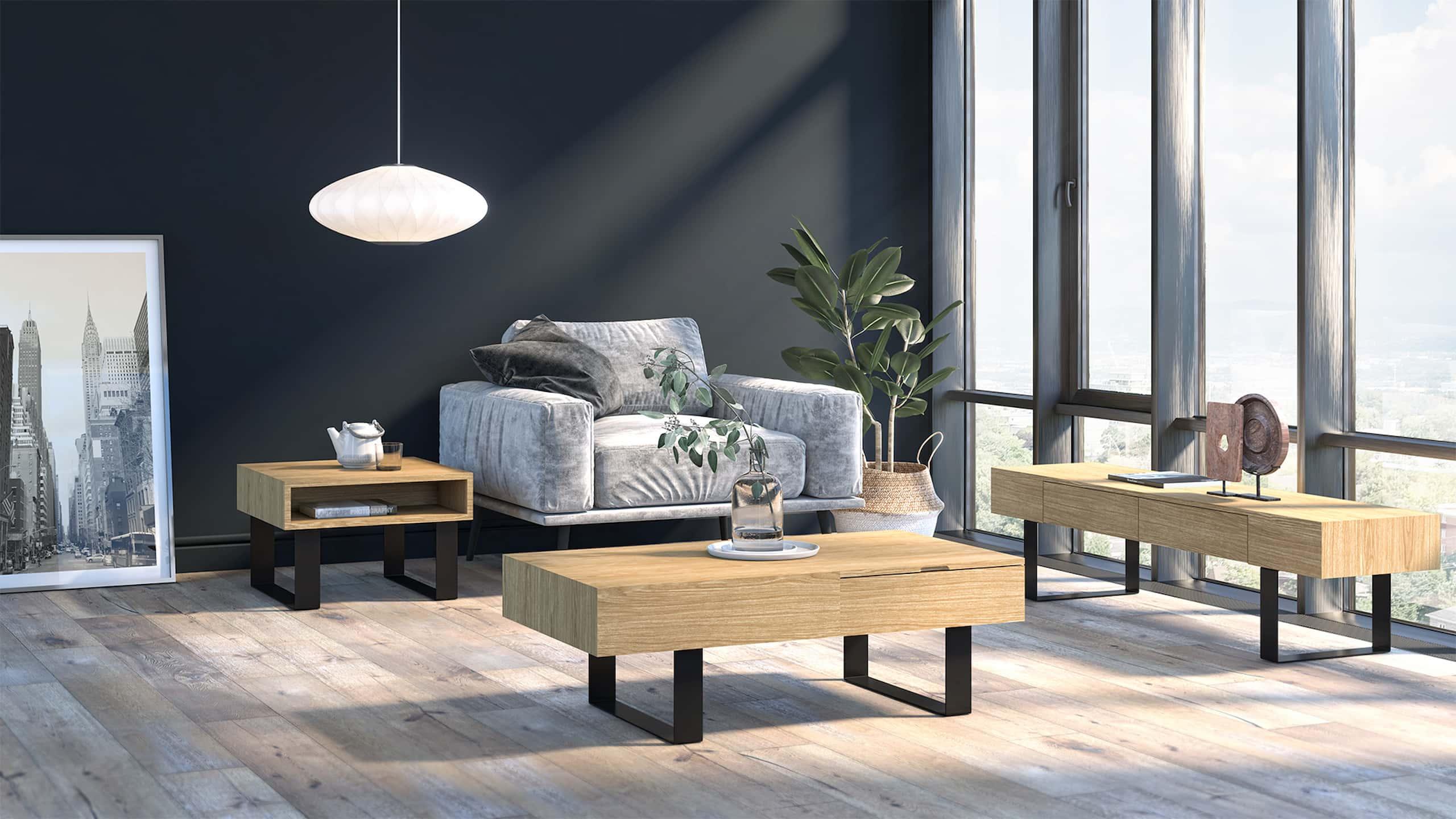 living room big windows coffee tables