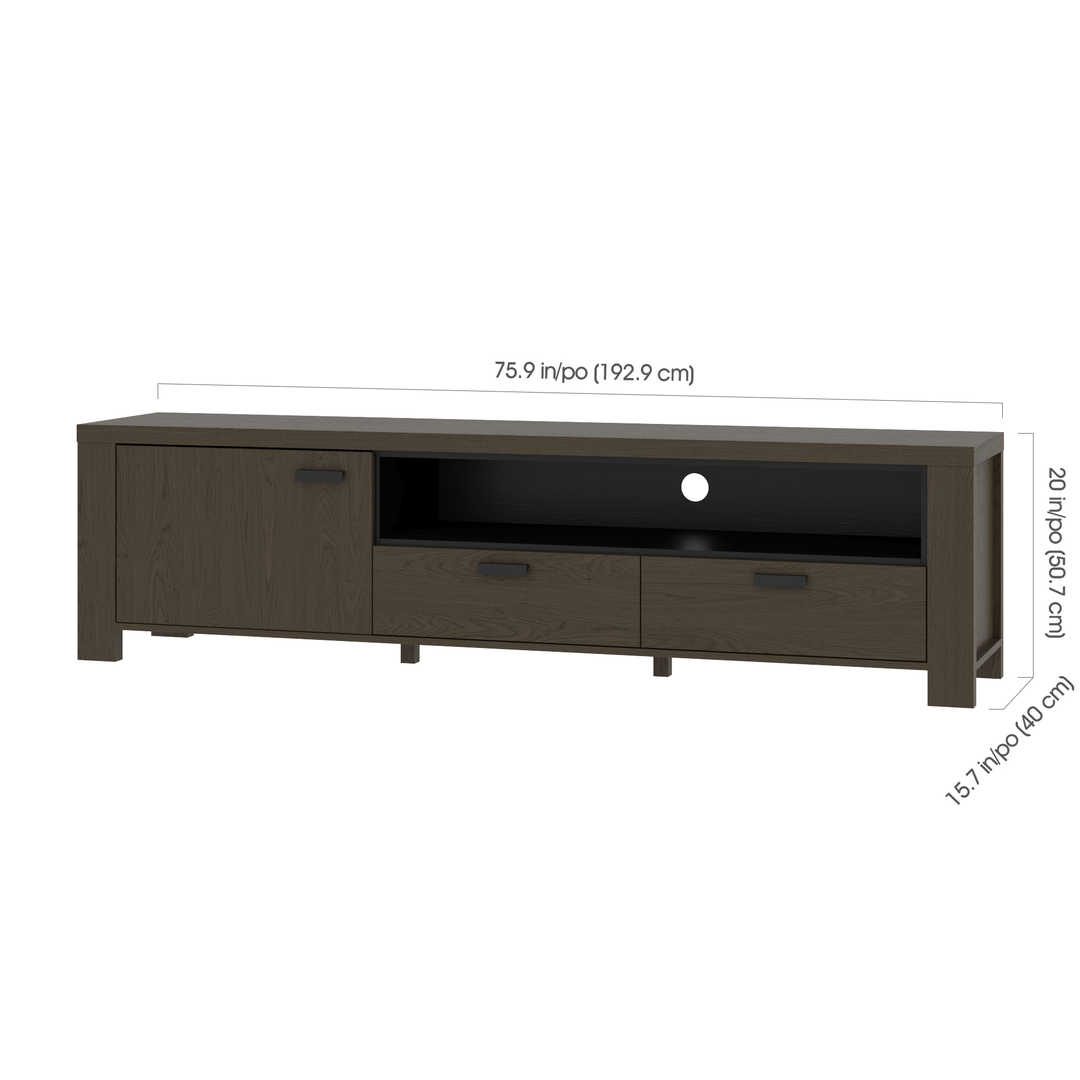 Perse 76w Tv Stand For 80 Inch Tv Bestar