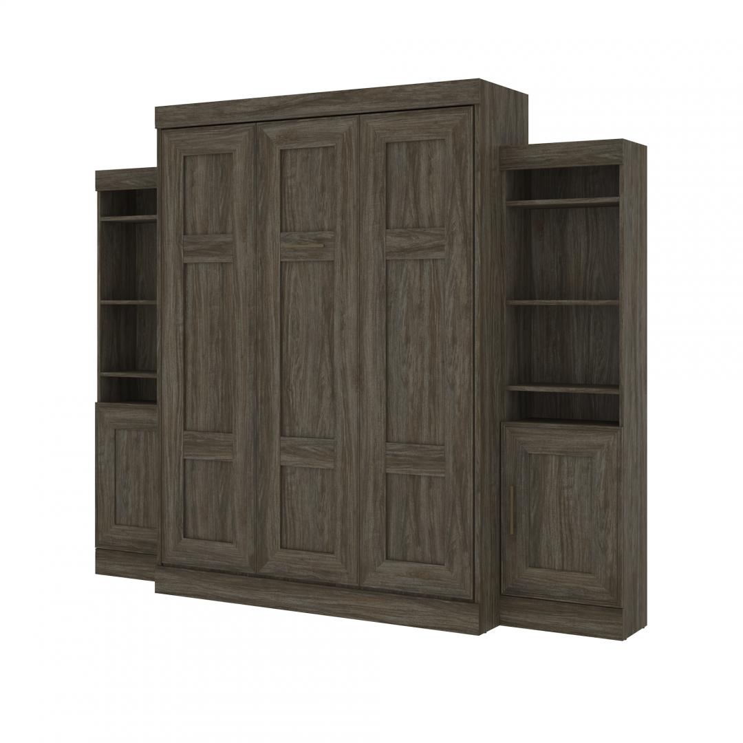 Queen Murphy Bed with 2 Storage Units (107W)