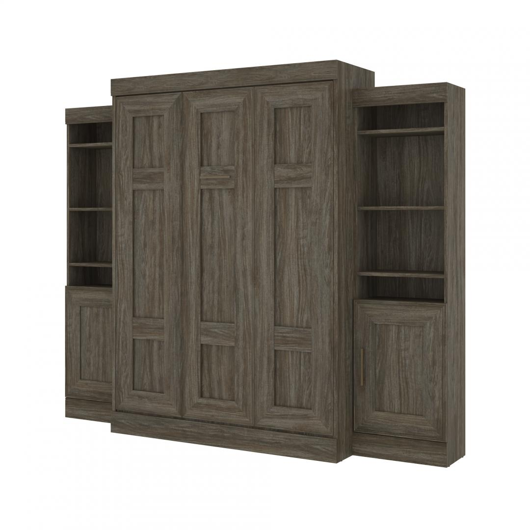 Full Murphy Bed with 2 Storage Units (102W)