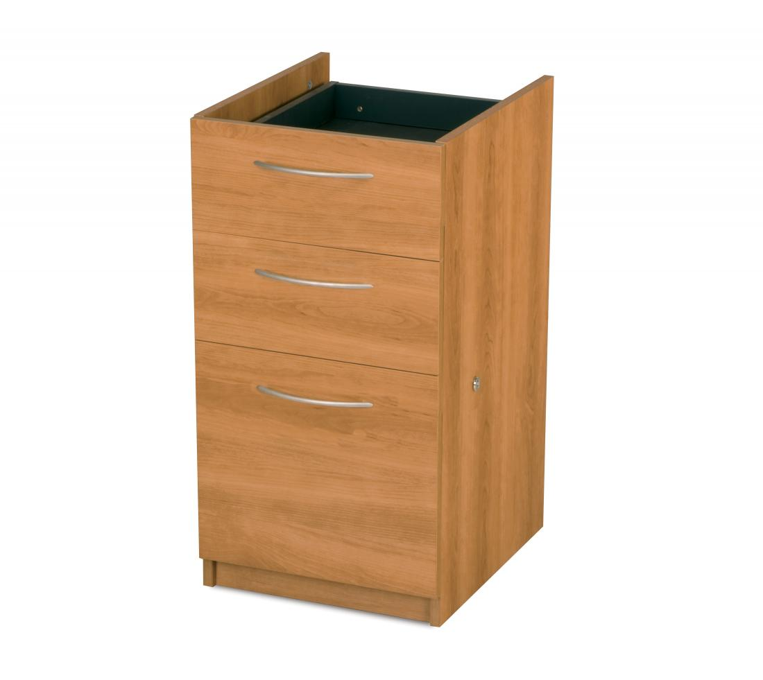 Add-On Pedestal with 3 Drawers