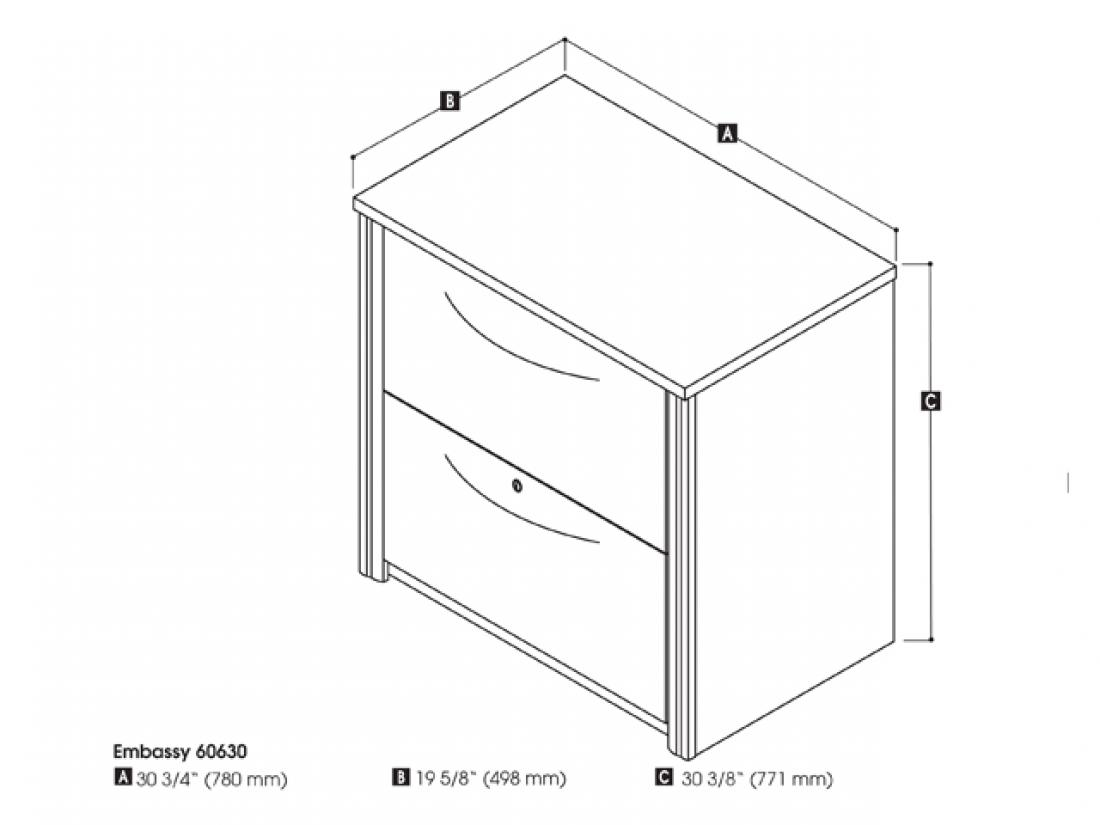 Image of: Embassy 30 Lateral File Cabinet Bestar