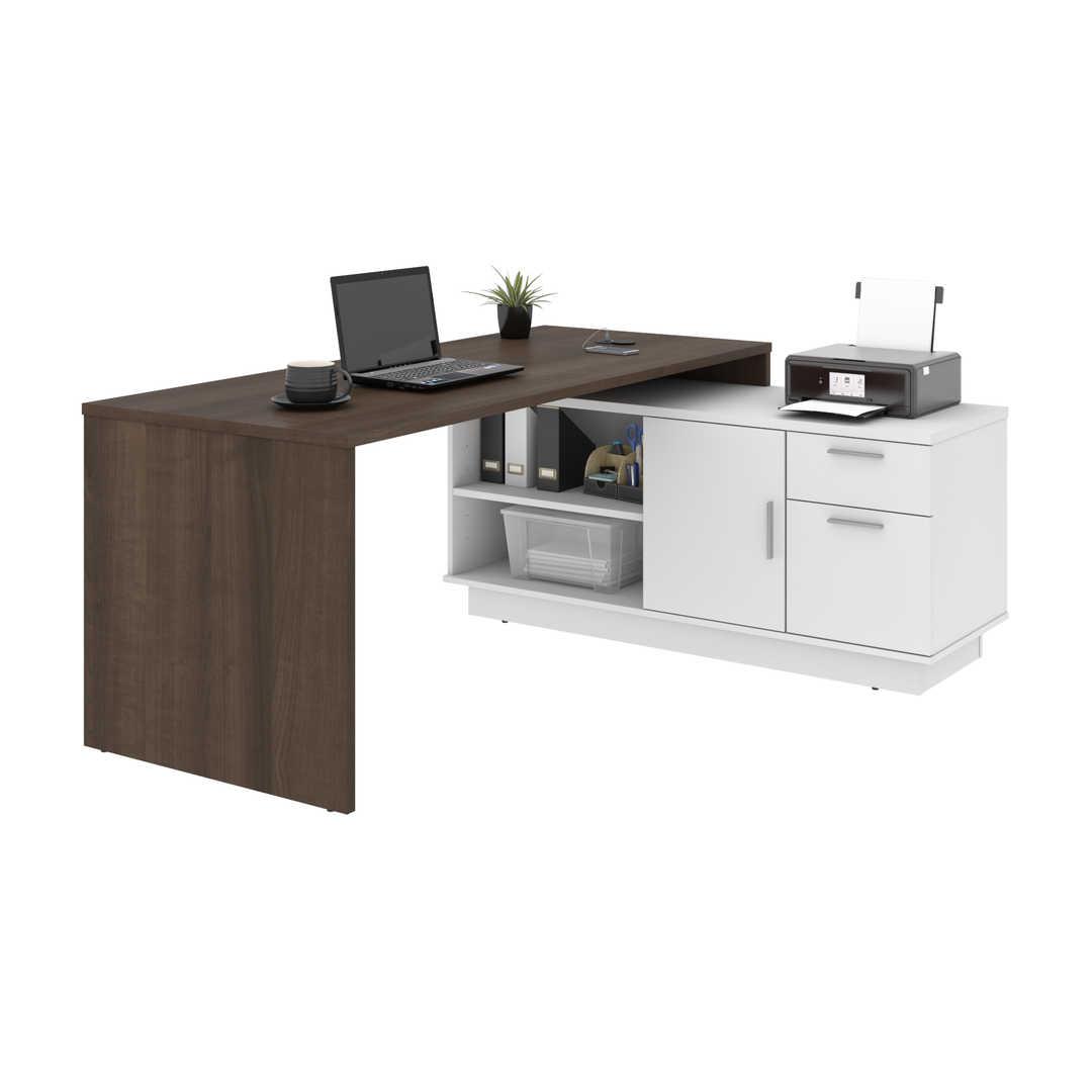 72W L-Shaped Desk