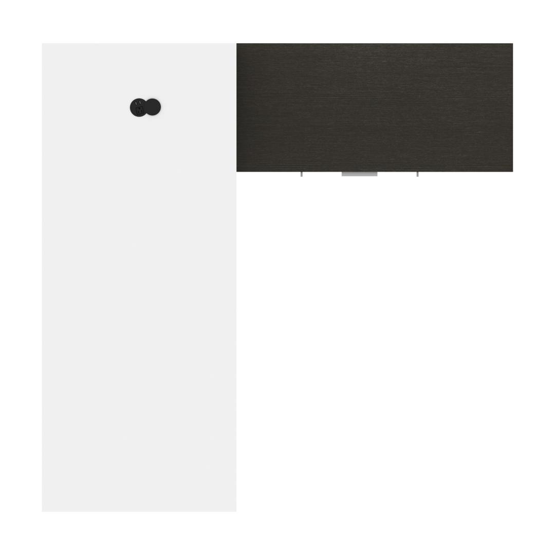 White & Deep Grey