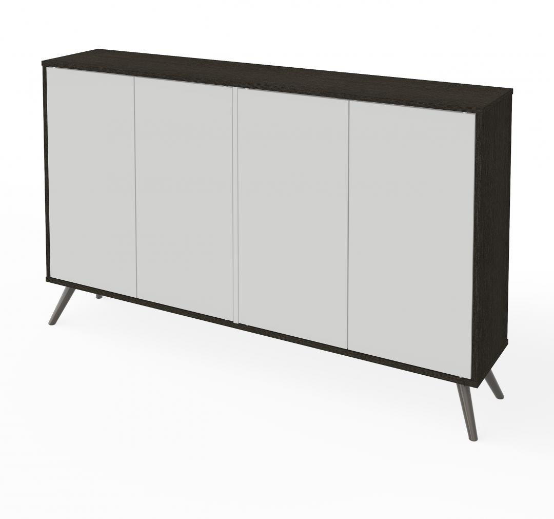 "60"" Storage Cabinet with Metal Legs"