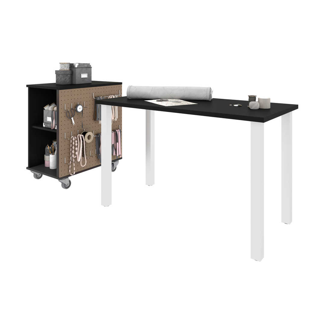 48W x 24D Table Desk with Mobile Storage Cabinet