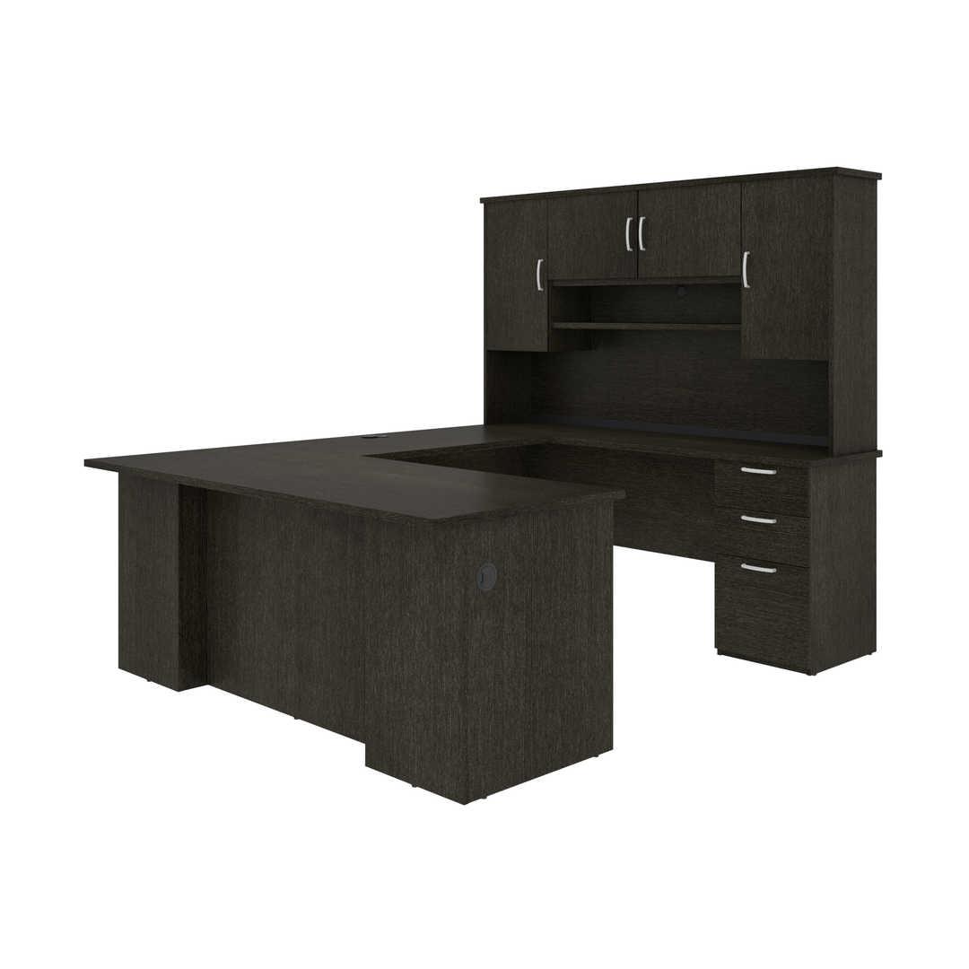 U or L-Shaped Executive Desk with Hutch