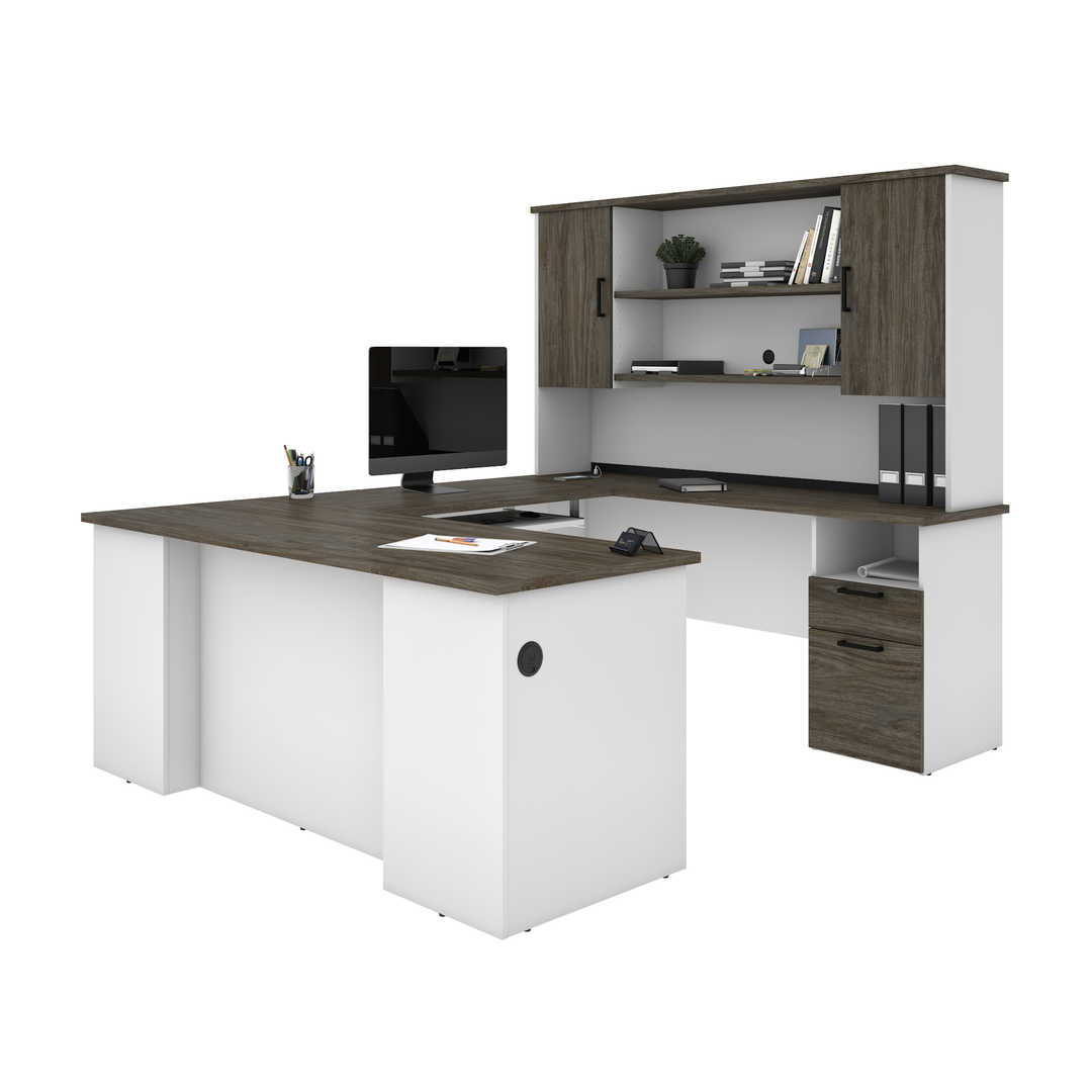 U or L-Shaped Executive Desk with Hutch