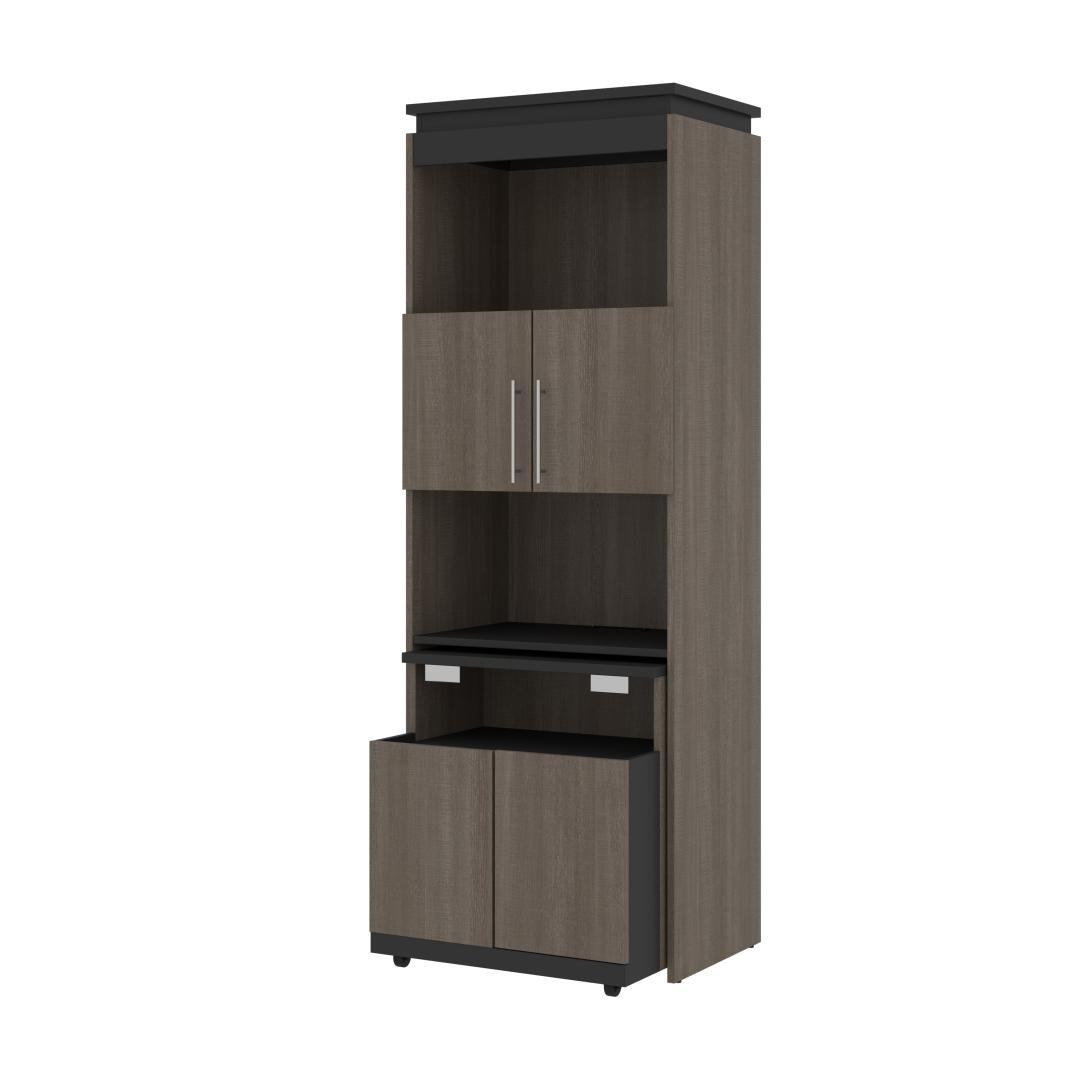 30W Shelving Unit with Fold-Out Desk