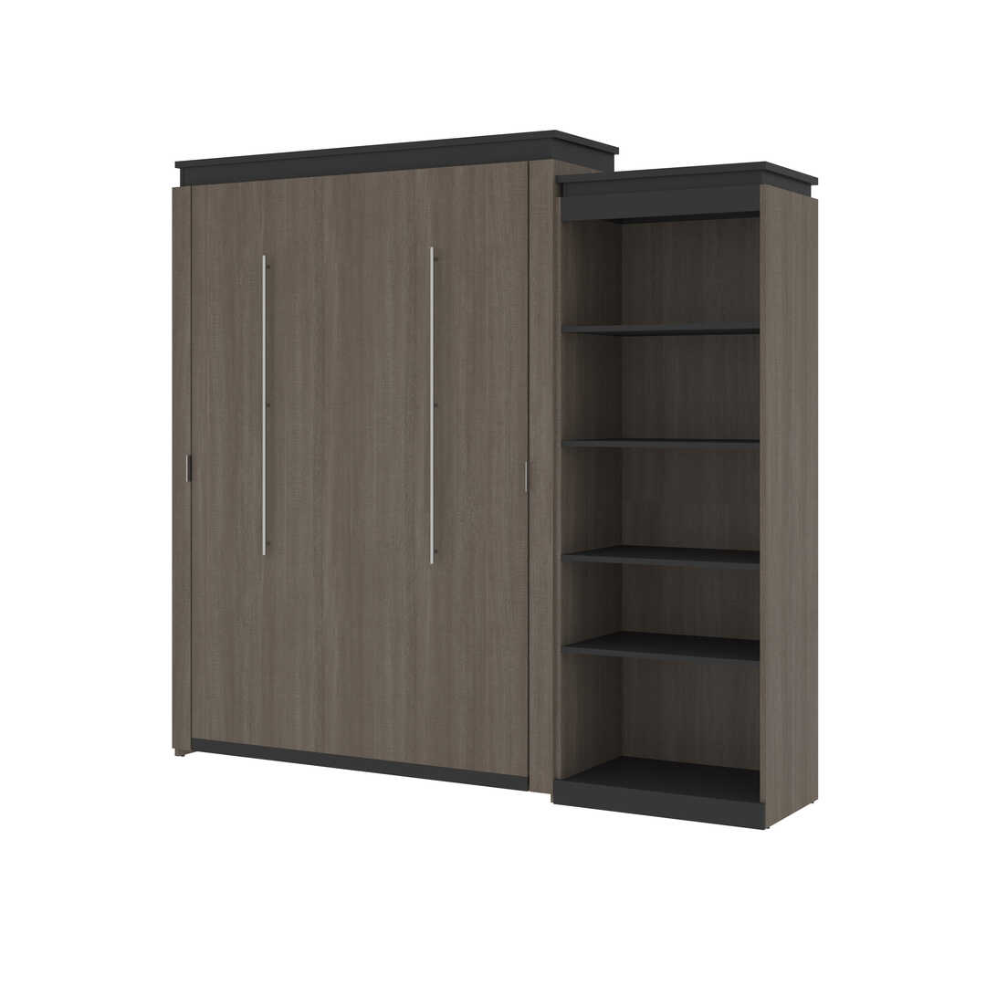 Queen Murphy Bed with Shelving Unit (95W)