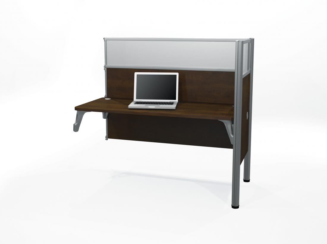 Single Add-On Section for Office Cubicles with High Privacy Panels