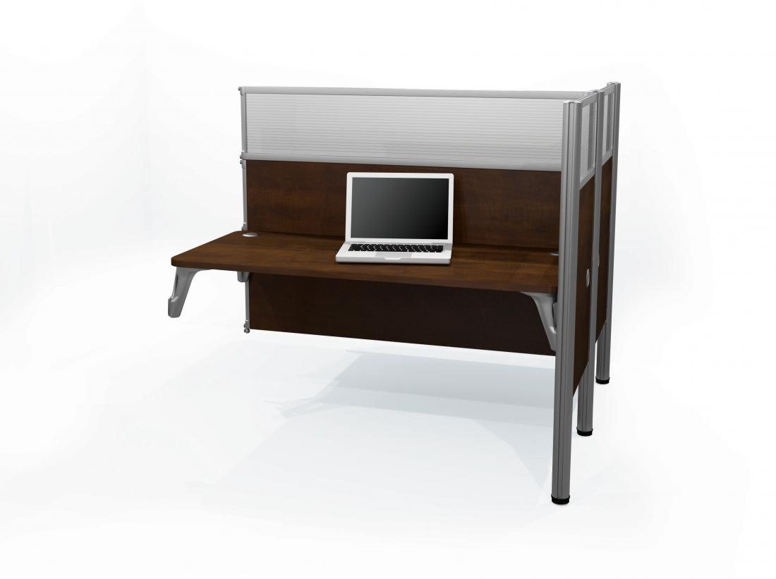 Double Add-On Section for Office Cubicles with High Privacy Panels