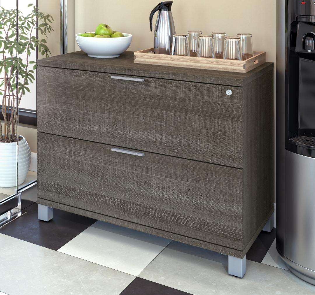 Image of: Pro Linea Assembled Lateral File Cabinet Bestar