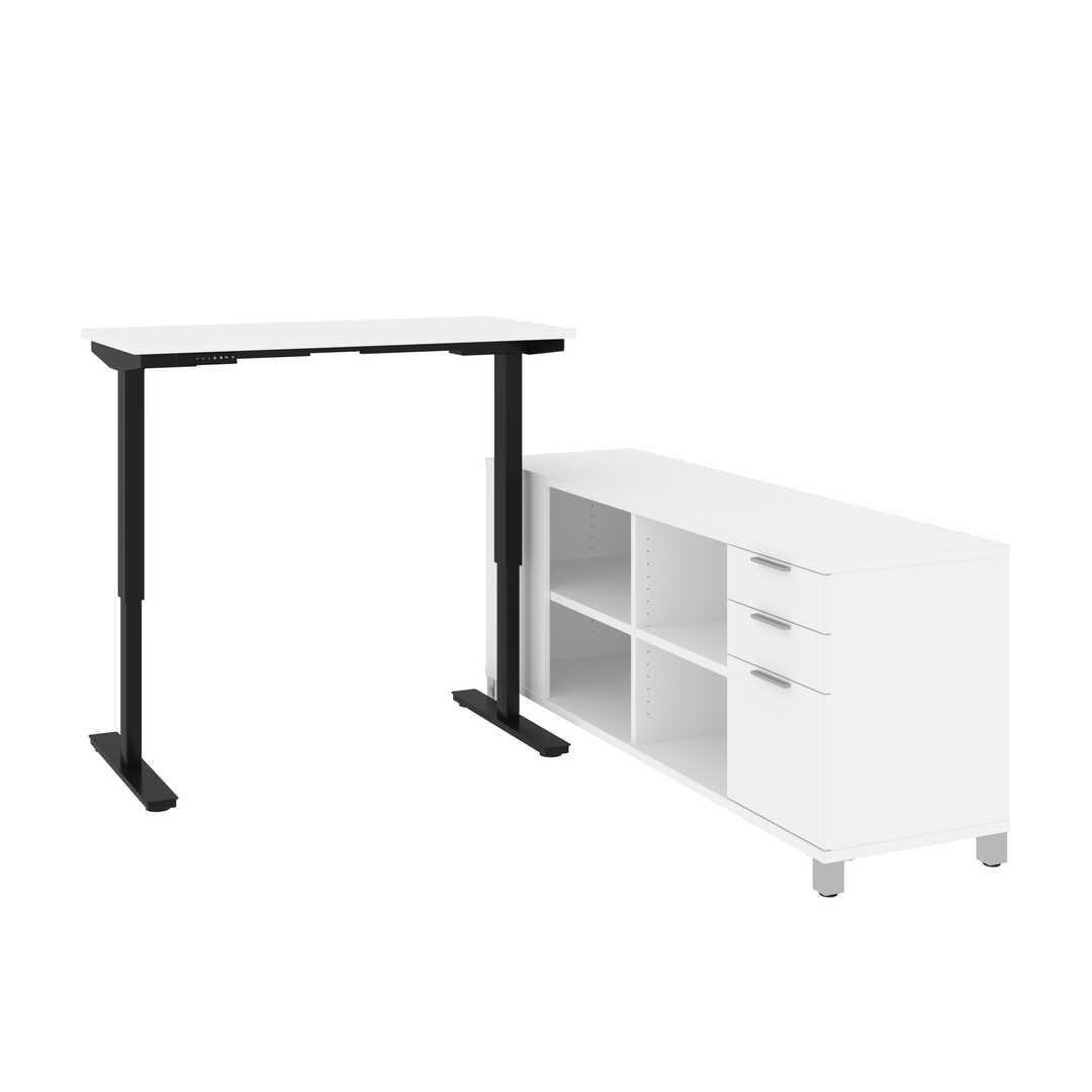 2-Piece set including a standing desk and a credenza